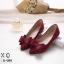 รองเท้าคัทชูสักหลาดนิ่มแต่งโบว์ (สีแดง) thumbnail 3