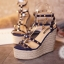 พร้อมส่ง : รองเท้าส้นตึก Valentino Style (สีน้ำเงิน) thumbnail 1