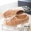 พร้อมส่ง : รองเท้าผ้าใบลูกไม้ (สีกากี) thumbnail 1