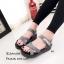 รองเท้าลำลองส้นเตารีดแต่งลาย (สีเทา) thumbnail 2