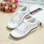 รองเท้าผ้าใบ MIUMIU Jeweled Satin Lace-Up Sneaker (สีขาว) thumbnail 1
