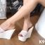 รองเท้า Platform สไตล์เกาหลี (สีขาว) thumbnail 6
