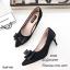 รองเท้าคัทชูซาตินแต่งโบว์ (สีครีม) thumbnail 4