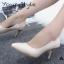รองเท้าคัทชูส้นโลหะทรงหัวแหลม (สีดำ) thumbnail 9