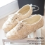พร้อมส่ง : รองเท้าผ้าใบลูกไม้ (สีกากี) thumbnail 6