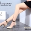 รองเท้าส้นเข็มแต่งทอง (สีครีม) thumbnail 12