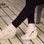 รองเท้าส้นเตารีดกำมะหยี่รัดส้น (สีแดง) thumbnail 12