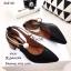 รองเท้าคัทชูคล้องอะไหล่มุก (สีกากี) thumbnail 4