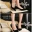 รองเท้าคัทชูส้นปรอทเงินสไตล์เกาหลี (สีดำ) thumbnail 4