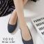 รองเท้าคัทชูรัดส้นทรงหัวกลม (สีครีม) thumbnail 3