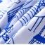 (Pre-order) ชุดผ้าปูที่นอน ปลอกหมอน ปลอกผ้าห่ม ผ้าคลุมเตียง ผ้าโพลีเอสเตอร์พิมพ์ลายการ์ตูนแฟนซีลายเส้นสีฟ้าขาว thumbnail 4