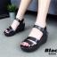 รองเท้าส้นเตารีด Platformสไตล์ลำลอง (สีชมพู) thumbnail 7
