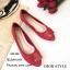 รองเท้าคัทชูส้นแบน Style Dior (สีครีม) thumbnail 7