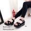 รองเท้าลำลองส้นเตารีดแต่งลาย (สีเทา) thumbnail 5