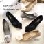 รองเท้าคัทชูซาตินแต่งดอกไม้ (สีเทา) thumbnail 11
