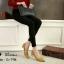 รองเท้าคัทชูส้นปรอทเงินสไตล์เกาหลี (สีดำ) thumbnail 13