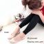 รองเท้าคัทชูส้นแบนแต่งสายรัดคริสตัล (สีครีม) thumbnail 3