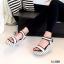 รองเท้าส้นเตารีดลาย Pokka Dot (สีเทา) thumbnail 6