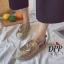 รองเท้าคัทชูสวมกากเพชรลายสมอ (สีทอง) thumbnail 4