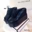 รองเท้าส้นเตารีดลูกไม้ลำลอง (สีดำ) thumbnail 4