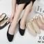 รองเท้าคัทชูรัดส้นทรงหัวกลม (สีครีม) thumbnail 12