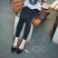 รองเท้าคัทชูหัวแหลมแต่งโบว์ (สีดำ) thumbnail 2