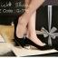 รองเท้าคัทชูส้นปรอทเงินสไตล์เกาหลี (สีดำ) thumbnail 1