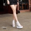 รองเท้าเตารีดลูกไม้เกาหลีแต่งซิป (สีเงิน) thumbnail 4