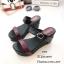 รองเท้าส้นเตารีดทูโทนสไตล์ลำลอง (สีดำ) thumbnail 3