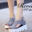 รองเท้าส้นเตารีดเมจิกเทปส้นหยัก (สีครีม) thumbnail 8