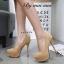 รองเท้าคัทชูส้นเข็มแต่งลาย (สีชมพูนู๊ด) thumbnail 6