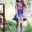 ถุงเท้าเด็ก สีฟ้า ลายดอกไม้ เนื้อถุงน่อง สไตล์เด็กเกาหลี thumbnail 2