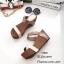 รองเท้าส้นเตารีดทูโทนสไตล์ลำลอง (สีดำ) thumbnail 6