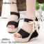 พร้อมส่ง : รองเท้าส้นสูงสไตล์เกาหลี (สีดำ) thumbnail 1