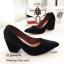 รองเท้าคัทชูส้นตันทรงหุ้มส้น (สีดำ) thumbnail 3