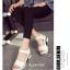 รองเท้าส้นเตารีดลำลองแต่งเมจิกเทป (สีดำ) thumbnail 5