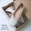 รองเท้าคัทชูส้นเตี้ยสไตล์แฟชั่นเกาหลี (สีครีม) thumbnail 5