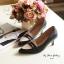 พร้อมส่ง : รองเท้าคัทชูหนังนิ่ม (สีเทา) thumbnail 2