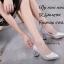 รองเท้าคัทชูส้นฝังเพชร (สีเงิน) thumbnail 2