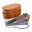 (พรีออเดอร์) กล่องข้าวไม้ กล่องข้าวญีปุ่น เบนโตะ กล่องห่ออาหารกลางวัน ไม้แท้ ลายสวย ปลอดภัย ทรงรี สองชั้น สีโอ๊ค thumbnail 1