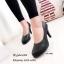 รองเท้าคัทชูส้นสูงทรงหัวกลม (สีดำ) thumbnail 1