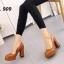 รองเท้าคัทชูส้นตันหัวกลม (สีดำ) thumbnail 5