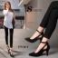 รองเท้าคัทชูกำมะหยี่เว้าข้าง (สีดำ) thumbnail 5