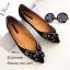 รองเท้าคัทชูแต่งอะไหล่เพชรผีเสื้อ (สีดำ) thumbnail 1