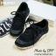 พร้อมส่ง : รองเท้าผ้าใบ MIUMIU Jeweled Satin Lace-Up Sneaker (สีดำ) thumbnail 1