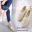 รองเท้าลูกไม้โครเชถักประดับโบว์ (สีครีม) thumbnail 4