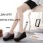 รองเท้าส้นเตารีดลำลองแต่งเมจิกเทป (สีดำ) thumbnail 8