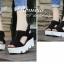 รองเท้าส้นเตารีดเมจิกเทปส้นหยัก (สีครีม) thumbnail 6