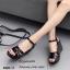 รองเท้าส้นเตารีดหนังเงาสไตล์ YSL (สีดำ) thumbnail 2