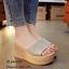 รองเท้าลำลองส้นเตารีดพันปอ (สีเทา) thumbnail 2